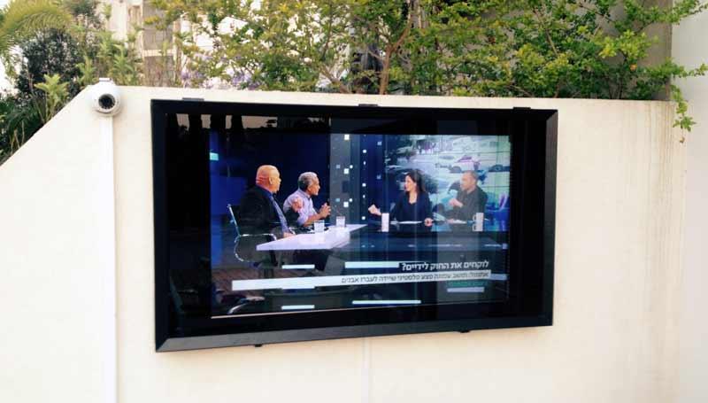 חיפוי לטלוויזיה בגינה בבית פרטי בראשון לציון.