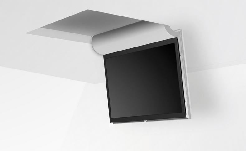 מעלית למסך טלויזיה מוסתר בתקרה
